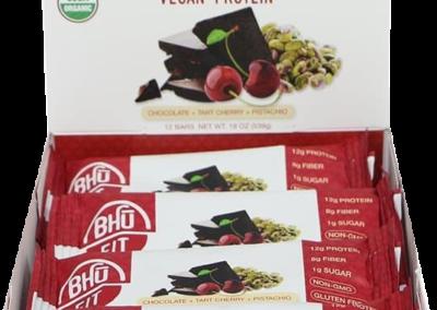 Bhu Vegan Protein: Chocolate - Tart Cherry - Pistachio